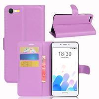 Graines knížkové puzdro pre mobil Meizu E2 - fialové