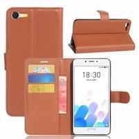Graines knížkové puzdro pre mobil Meizu E2 - hnedé