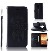 Dream PU kožené peňaženkové puzdro na Motorola Moto E5 - čierne