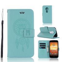 Dream PU kožené peňaženkové puzdro na Motorola Moto E5 - zelené