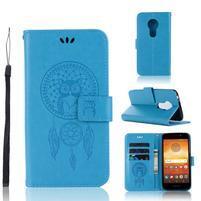 Dream PU kožené peňaženkové puzdro na Motorola Moto E5 - modré
