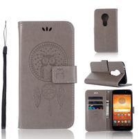 Dream PU kožené peňaženkové puzdro na Motorola Moto E5 -  sivé
