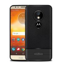 Litchi odolný gélový obal na Motorola Moto G6 Play a E5 - čierny