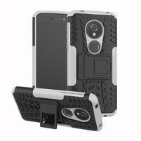 Outdoor odolný hybridný kryt na Motorola Moto G6 Play a E5 - biely