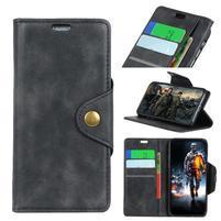 Wallet PU kožené puzdro na Motorola Moto E5 Play - čierne