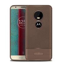 Litch odolný gélový kryt na Motorola Moto E5 Play - hnedý
