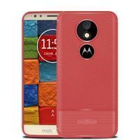 Litcher odolný silikónový obal na Motorola Moto E5 Plus - červený
