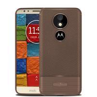 Litcher odolný silikónový obal na Motorola Moto E5 Plus - hnedý