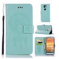 Printy PU kožené peňaženkové puzdro na Motorola Moto E5 Plus - zelené