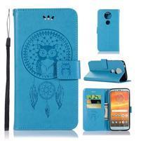 Printy PU kožené peňaženkové puzdro na Motorola Moto E5 Plus - modré