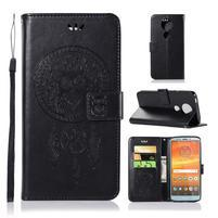 Printy PU kožené peňaženkové puzdro na Motorola Moto E5 Plus - čierne