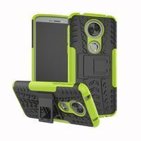 Outdoor odolný hybridný obal na Motorola Moto E5 Plus - zelený