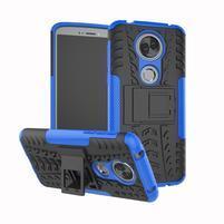Outdoor odolný hybridný obal na Motorola Moto E5 Plus - modrý