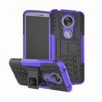 Outdoor odolný hybridný obal na Motorola Moto E5 Plus - fialový