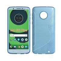 Carbon gélový odolný kryt na Motorola Moto G6 Plus - svetlomodrý