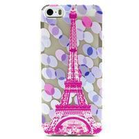 Fun gélový obal na iPhone 5s a iPhone 5 - Eiffelova veža