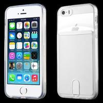 Ultra tenký obal s vreckom pre iPhone 5 a 5s - transparentný