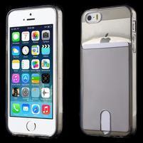 Ultra tenký obal s vreckom pre iPhone 5 a 5s - sivý