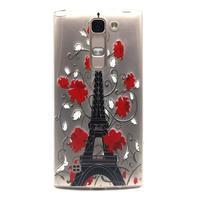 Priehľadný gélový obal na LG G4c - Eiffelova veža