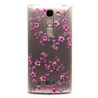 Priehľadný gélový obal pre LG G4c - slivkové kvety