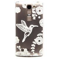 Priehľadný gélový obal na LG G4c - vtáčik