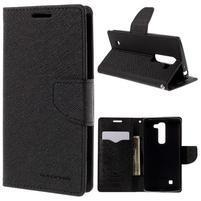 Diary PU kožené puzdro na LG G4c- čierne