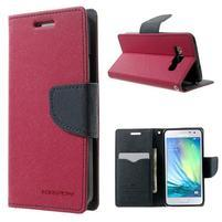 Diary PU kožené puzdro na Samsung Galaxy A3 - rose