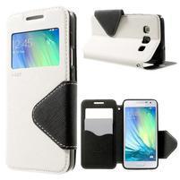 Roar peňaženkové puzdro s okienkom na Samsung Galaxy A3 - biele