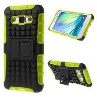 Outdoor odolný kryt pre mobil Samsung Galaxy A3    - zelený