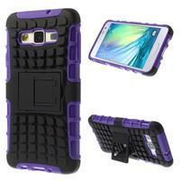 Outdoor odolný kryt pre mobil Samsung Galaxy A3    - fialový
