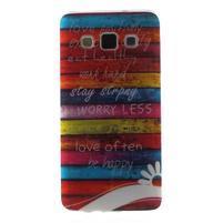 Gélový obal na mobil Samsung Galaxy A3 - farby dreva