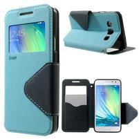 Roar peňaženkové puzdro s okienkom na Samsung Galaxy A3 - svetlomodré