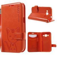 Mačička Domi puzdro pre Samsung Galaxy Core Prime - oranžové