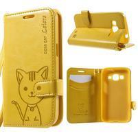 Mačička Domi puzdro pre Samsung Galaxy Core Prime - žlté