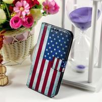 Puzdro pre mobil Samsung Galaxy Core Prime - US vlajka