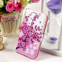 Puzdro na mobil Samsung Galaxy Core Prime - kvetoucí větvička