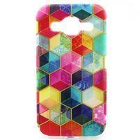 Gélový kryt pre mobil Samsung Galaxy Core Prime - farby hexagonu