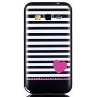 Gélový kryt pre mobil Samsung Galaxy Core Prime - srdca
