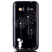 Gélový kryt pre mobil Samsung Galaxy Core Prime - chlapec a púpavy