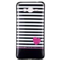Jelly gélový obal pre mobil Samsung Galaxy Grand Prime - srdca