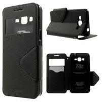Safety puzdro s okienkom pre Samsung Galaxy Grand Prime - čierne