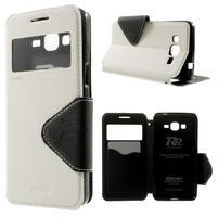 Safety puzdro s okienkom pre Samsung Galaxy Grand Prime - biele