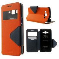 Safety puzdro s okienkom pre Samsung Galaxy Grand Prime - oranžové