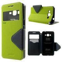 Safety puzdro s okienkom pre Samsung Galaxy Grand Prime - zelené