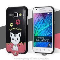 Domi gélové puzdro s mačičkou pre Samsung Galaxy J1 - čierne