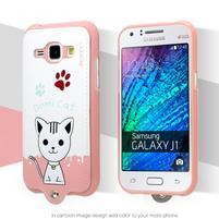 Domi gélové puzdro s mačičkou pre Samsung Galaxy J1 - biele