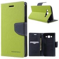 Diary štýlové peňaženkové puzdro na Samsung Galaxy J5 -  zelené
