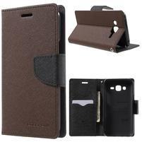 Diary štýlové peňaženkové puzdro pre Samsung Galaxy J5 -  hnedé