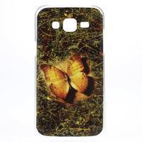 Gélový obal pre mobil Samsung Galaxy J5 - motýlek