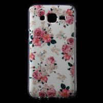 Gélové puzdro pre mobil pre Samsung Galaxy J5 - kvetiny